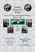 Plakat Damen-GP 9 Ball 2015